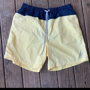 Yellow Nautica Swim Trunks Shorts